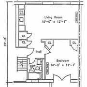 One Bedroom with Porch
